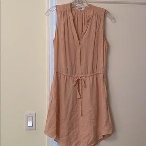 Pink silk sleeveless dress